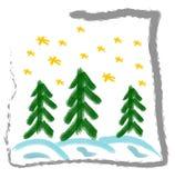 Tarjeta de felicitación de la Navidad Stock de ilustración