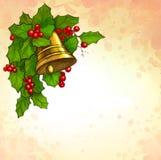Tarjeta de felicitación de la Navidad Imagen de archivo