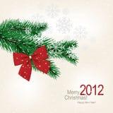 Tarjeta de felicitación de la Navidad Foto de archivo libre de regalías