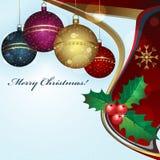 Tarjeta de felicitación de la Navidad Foto de archivo
