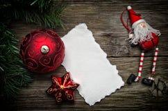 Tarjeta de felicitación de la Navidad Imágenes de archivo libres de regalías