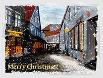 Tarjeta de felicitación de la Navidad. Imagen de archivo libre de regalías
