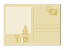 Tarjeta de felicitación de la Navidad Fotos de archivo