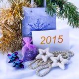 Tarjeta de felicitación de la Navidad 2014 Imágenes de archivo libres de regalías