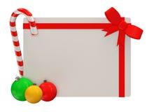 Tarjeta de felicitación de la Navidad aislada en el backgrou blanco Fotos de archivo