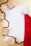 Tarjeta de felicitación de la Navidad con el espacio para el texto Imagen de archivo