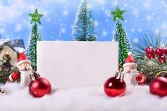 Tarjeta de felicitación de la Navidad con el espacio para el texto Fotos de archivo
