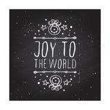 Tarjeta de felicitación de la Navidad con el texto en la pizarra Fotografía de archivo libre de regalías