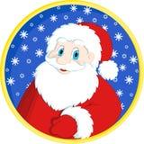Tarjeta de felicitación de la Navidad con Papá Noel Imagen de archivo