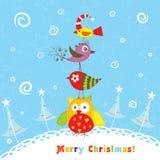 Tarjeta de felicitación de la Navidad de la plantilla Fotografía de archivo libre de regalías