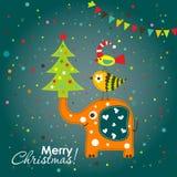 Tarjeta de felicitación de la Navidad de la plantilla, Imagen de archivo
