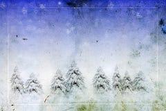 Tarjeta de felicitación de la Navidad de la vendimia Foto de archivo libre de regalías