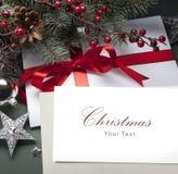 Tarjeta de felicitación de la Navidad del arte Imagenes de archivo