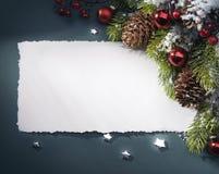 Tarjeta de felicitación de la Navidad del arte Imágenes de archivo libres de regalías