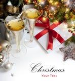 Tarjeta de felicitación de la Navidad del arte Fotografía de archivo libre de regalías
