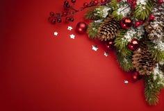 Tarjeta de felicitación de la Navidad del arte Fotos de archivo