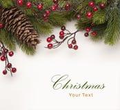 Tarjeta de felicitación de la Navidad del arte Fotos de archivo libres de regalías