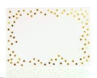 Tarjeta de felicitación de la Navidad del confeti Imagenes de archivo