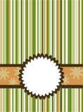 Tarjeta de felicitación de la Navidad del modelo Imagen de archivo libre de regalías