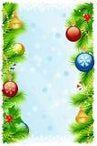 Tarjeta de felicitación de la Navidad del modelo Imagenes de archivo
