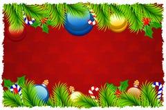 Tarjeta de felicitación de la Navidad del modelo Fotos de archivo