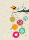 Tarjeta de felicitación de la Navidad del modelo, vector Fotos de archivo libres de regalías