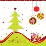 Tarjeta de felicitación de la Navidad del modelo, vector Imagen de archivo libre de regalías