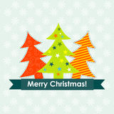 Tarjeta de felicitación de la Navidad del modelo, vector Foto de archivo