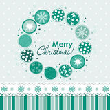 Tarjeta de felicitación de la Navidad del modelo, vector Fotos de archivo
