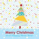 Tarjeta de felicitación de la Navidad del modelo, vector Imágenes de archivo libres de regalías