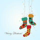 Tarjeta de felicitación de la Navidad del modelo, vector Imagen de archivo