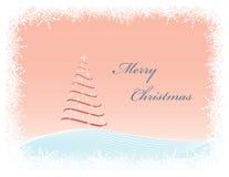 Tarjeta de felicitación de la Navidad del vector stock de ilustración