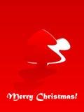 Tarjeta de felicitación de la Navidad del vector. Imágenes de archivo libres de regalías