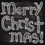 Tarjeta de felicitación de la Navidad del vector Fotografía de archivo libre de regalías