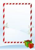 Tarjeta de felicitación de la Navidad del vector Imágenes de archivo libres de regalías