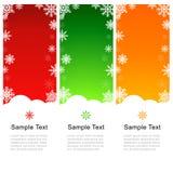 Tarjeta de felicitación de la Navidad del vector con los copos de nieve en Backgroun azul Fotografía de archivo libre de regalías