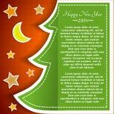 Tarjeta de felicitación de la Navidad del vintage Imagenes de archivo