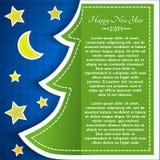 Tarjeta de felicitación de la Navidad del vintage Imagen de archivo