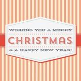 Tarjeta de felicitación de la Navidad del vintage Fotografía de archivo