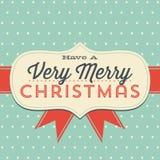 Tarjeta de felicitación de la Navidad del vintage Fotografía de archivo libre de regalías