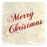 Tarjeta de felicitación de la Navidad. Ejemplo del vector Imágenes de archivo libres de regalías