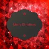 Tarjeta de felicitación de la Navidad, ejemplo del vector Fotos de archivo