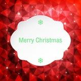 Tarjeta de felicitación de la Navidad, ejemplo del vector Imagen de archivo libre de regalías