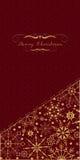 Tarjeta de felicitación de la Navidad en rojo Vector Foto de archivo libre de regalías