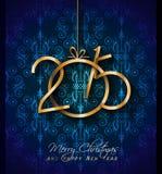 Tarjeta 2015 de felicitación de la Navidad para el día de fiesta feliz Foto de archivo