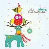 Tarjeta de felicitación de la Navidad, vector Imagen de archivo