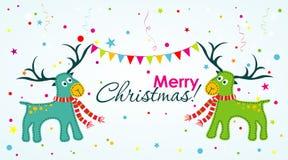 Tarjeta de felicitación de la Navidad, vector Imagen de archivo libre de regalías