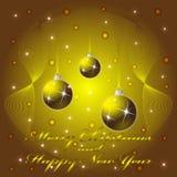 Tarjeta de felicitación de la Navidad y del Año Nuevo Imágenes de archivo libres de regalías