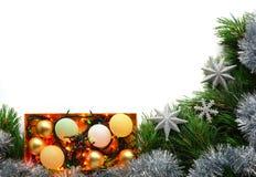 Tarjeta de felicitación de la Navidad y del Año Nuevo Fotos de archivo