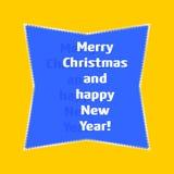 Tarjeta de felicitación de la Navidad y del Año Nuevo Imagen de archivo libre de regalías